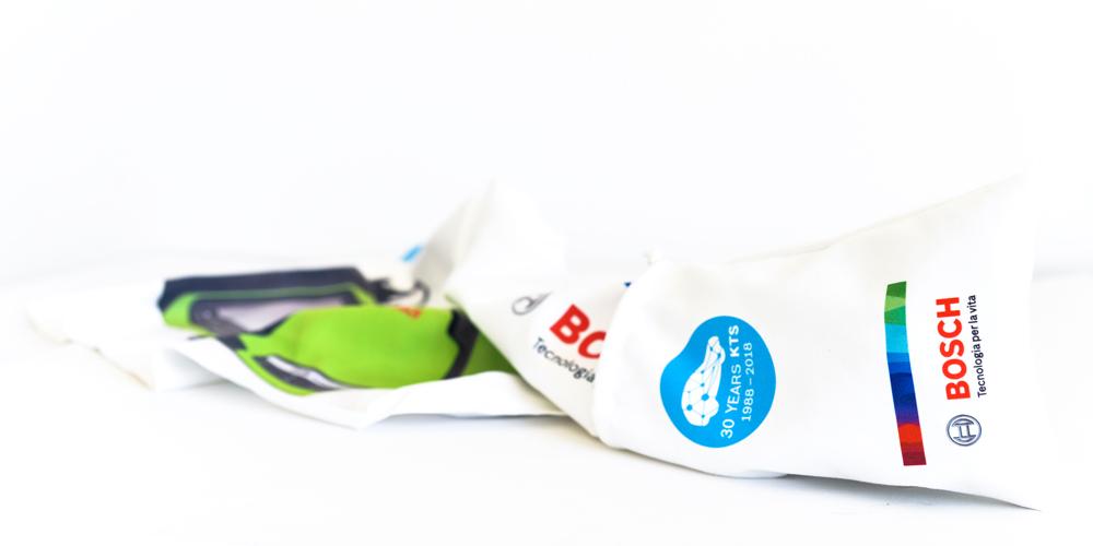 Gadget Bosch Telo palestra e Pouch personalizzati