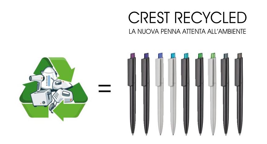 ABS Riciclato per la Nuvo Crest Recycled di Ritter-Pen