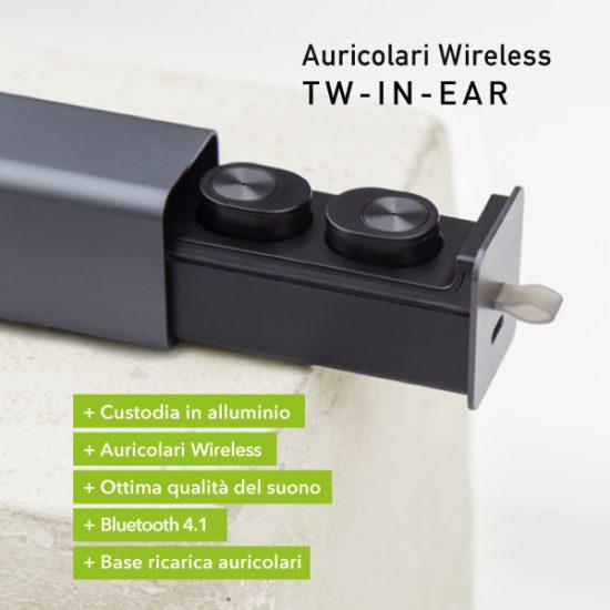 Tw-in-ear auricolari bluetooth