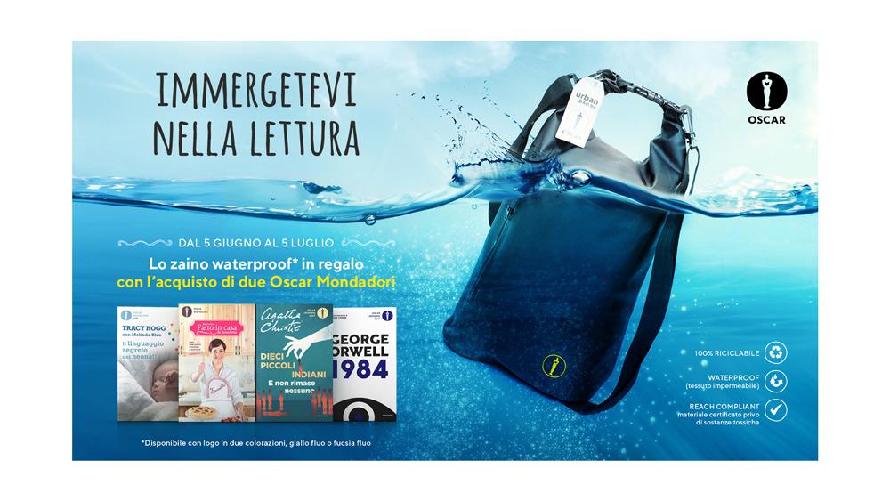 Oscar Mondadori Zaino Waterproof - 100% Riciclabile Personalizzato